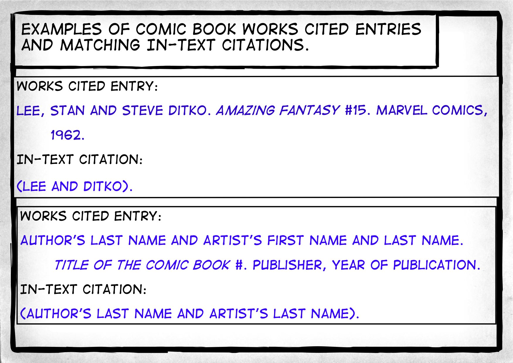 How i want you to cite a comic book composition 1 ccuart Images