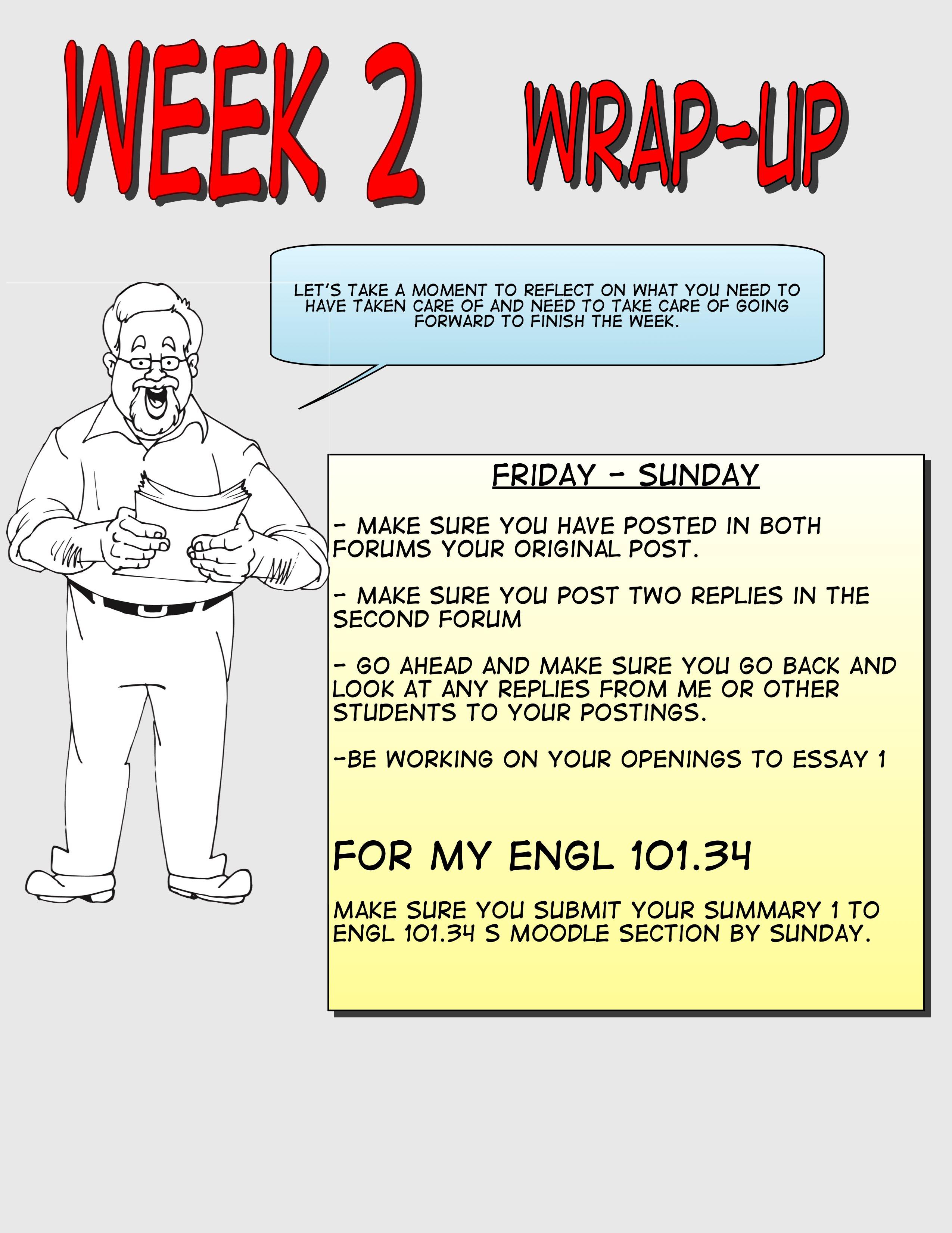 ENGL101-Week 2 Wrap-Up
